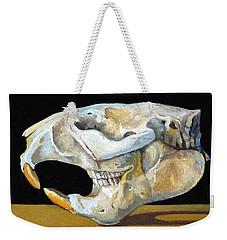 Beaver Skull 1 Weekender Tote Bag by Catherine Twomey