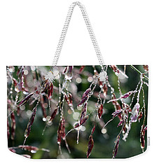 Bedazzled With Rain Droplets Weekender Tote Bag by Ellen Tully
