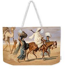 Bedouin Family Travels Across The Desert Weekender Tote Bag by Henri de Montaut
