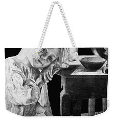 Weekender Tote Bag featuring the drawing Bedtime by Sophia Schmierer