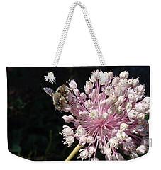 Bee And Allium Weekender Tote Bag