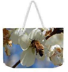 Bee And Pear Blooms Weekender Tote Bag
