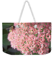 Weekender Tote Bag featuring the photograph Bee Climbing by Christina Verdgeline