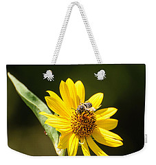 Bee Flower Weekender Tote Bag