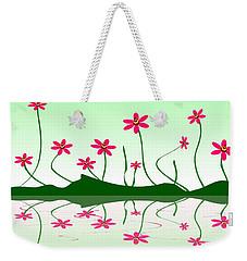 Bee Flowers Weekender Tote Bag