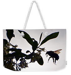 Bee In Flight  Weekender Tote Bag by Kerri Farley