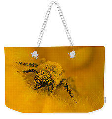 Bee In Pollen Weekender Tote Bag by Chris Scroggins