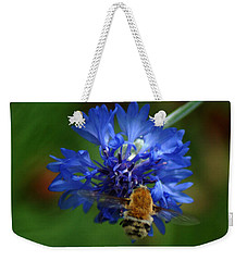 Weekender Tote Bag featuring the photograph Bee by Leticia Latocki