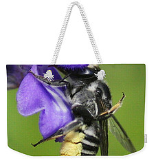 Bee-licious Flower Weekender Tote Bag by Myrna Bradshaw