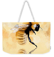 Bee Weekender Tote Bag by Veronica Minozzi