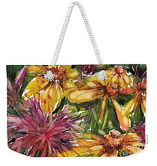 Beebalm And Heliopsis Weekender Tote Bag by Judith Levins