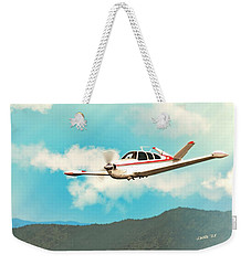 Beechcraft Bonanza V Tail Red Weekender Tote Bag