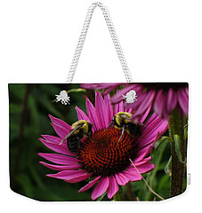 Weekender Tote Bag featuring the photograph Beelievers by Lingfai Leung