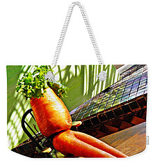 Beer Belly Carrot On A Hot Day Weekender Tote Bag by Sarah Loft
