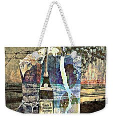 Weekender Tote Bag featuring the mixed media Beer On Tap by Ally  White