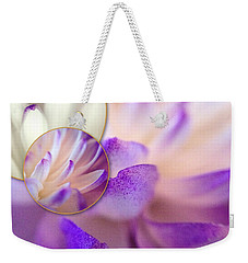 Weekender Tote Bag featuring the photograph Bee's Eye View by Susan Maxwell Schmidt