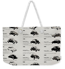 Weekender Tote Bag featuring the photograph Beetle Evolution by Benjamin Yeager