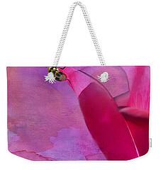 Beetle On A Rose Weekender Tote Bag