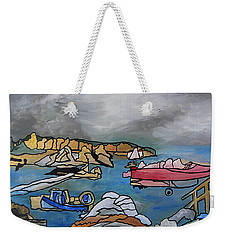 Weekender Tote Bag featuring the painting Before The Storm by Barbara St Jean