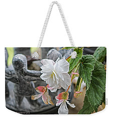 Weekender Tote Bag featuring the photograph Begonia by Denise Romano