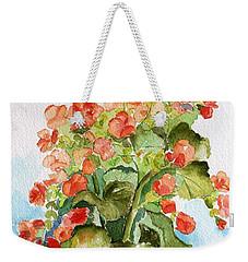 Begonias Still Life Weekender Tote Bag