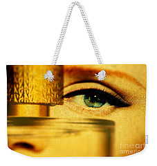 Behind The Bottle Weekender Tote Bag by Michael Cinnamond