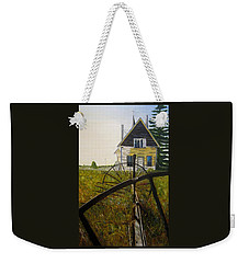 Weekender Tote Bag featuring the painting Behind The Old Church by Marilyn  McNish