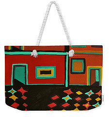 Weekender Tote Bag featuring the painting Behind Which Door by Barbara St Jean
