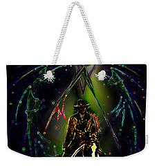 Weekender Tote Bag featuring the digital art Behold The Pale Rider  by Hartmut Jager