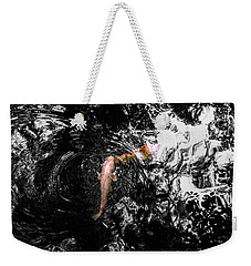 Weekender Tote Bag featuring the photograph Being Koi by Glenn DiPaola