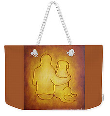 Being There 2 - Dog And Friend Weekender Tote Bag
