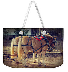 Belgium Draft Horses Weekender Tote Bag