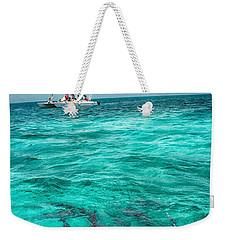 Belize Turquoise Shark N Sail  Weekender Tote Bag
