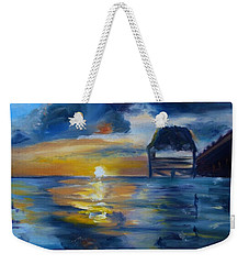 Belizean Sunrise Weekender Tote Bag by Donna Tuten