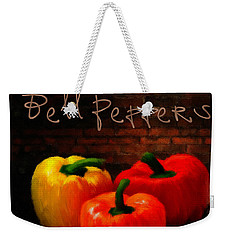 Bell Peppers II Weekender Tote Bag by Lourry Legarde