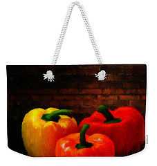 Bell Peppers Weekender Tote Bag by Lourry Legarde