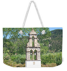 Weekender Tote Bag featuring the photograph Bell Tower 1584 1 by George Katechis