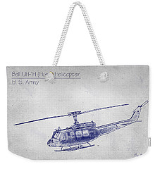 Bell Uh-1h Huey Helicopter  Weekender Tote Bag by Barry Jones