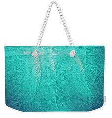 Weekender Tote Bag featuring the photograph Beluga Abstract by Nadalyn Larsen