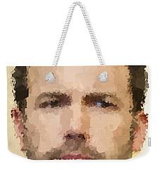 Ben Affleck Portrait Weekender Tote Bag by Samuel Majcen