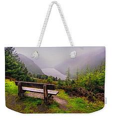 Bench Over The Upper Lake. Glendalough. Ireland Weekender Tote Bag