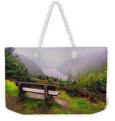 Bench Over The Upper Lake. Glendalough. Ireland Weekender Tote Bag
