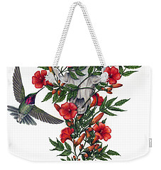 Weekender Tote Bag featuring the painting Beneath Summer's Promise by Pat Erickson