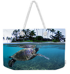 Beneath The Palms Weekender Tote Bag