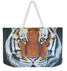 Weekender Tote Bag featuring the painting Bengal Tiger by Thomas J Herring