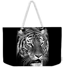 Bengal Tiger In Black And White Weekender Tote Bag by Venetia Featherstone-Witty
