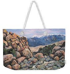 Weekender Tote Bag featuring the painting Benton by Donna Tucker