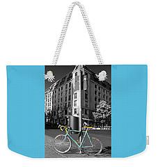 Berlin Street View With Bianchi Bike Weekender Tote Bag