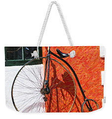 Weekender Tote Bag featuring the photograph Bermuda Antique Bicycle by Verena Matthew
