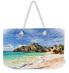 Weekender Tote Bag featuring the digital art Bermuda Beach by Verena Matthew